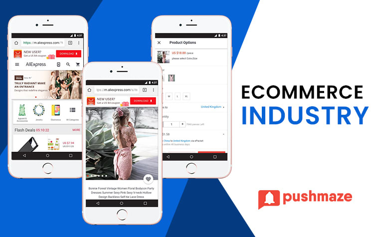 Push Notifications usages in eCommerce industry