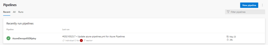 Example of pipelines