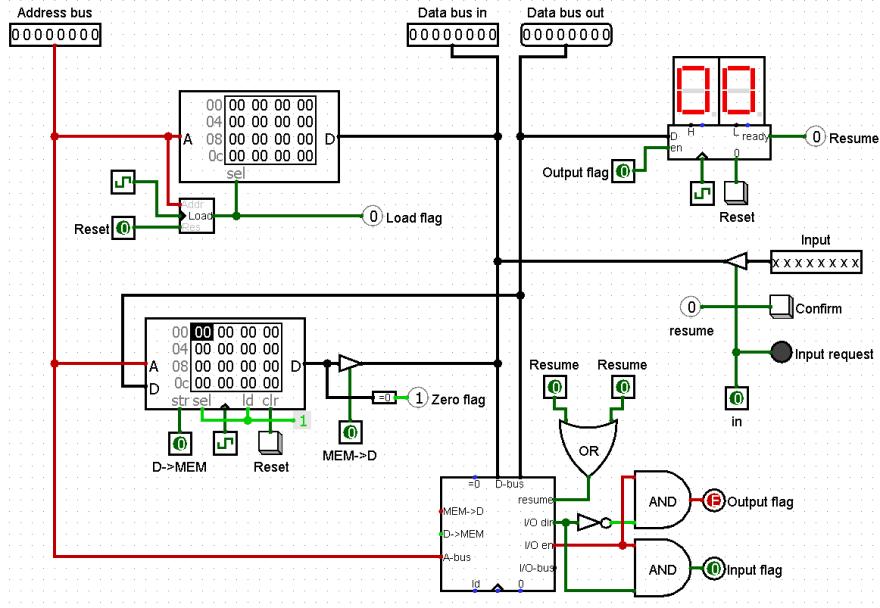 Computer with I/O logic