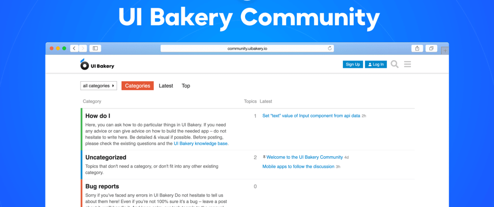 Cover image for UI Bakery Launches the Community for Their Users