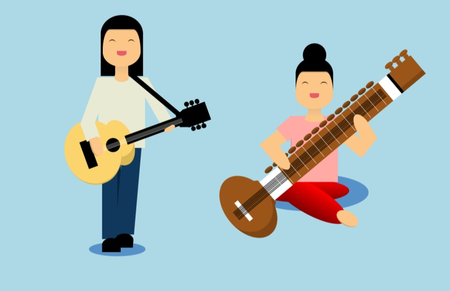 Musicians CSS illustration