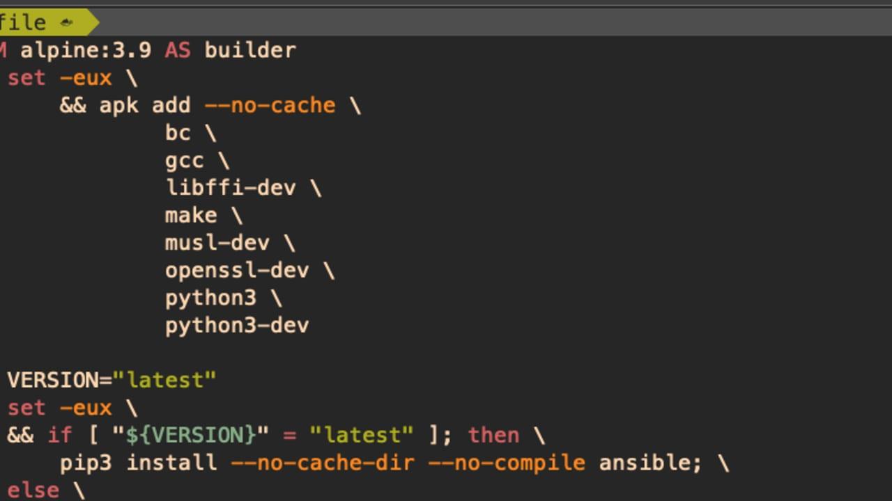 Dockerfile ansible, awscli, packer, terraform   DEV Community