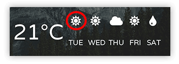 font awesome sun icon