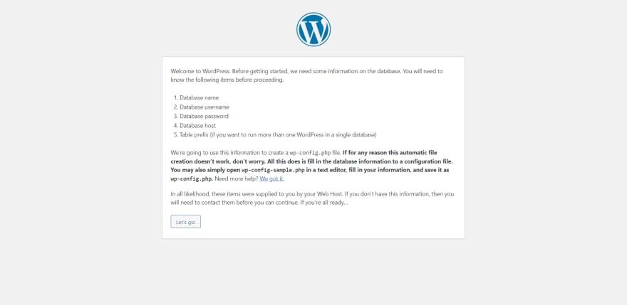 WordPress - notification for get database information