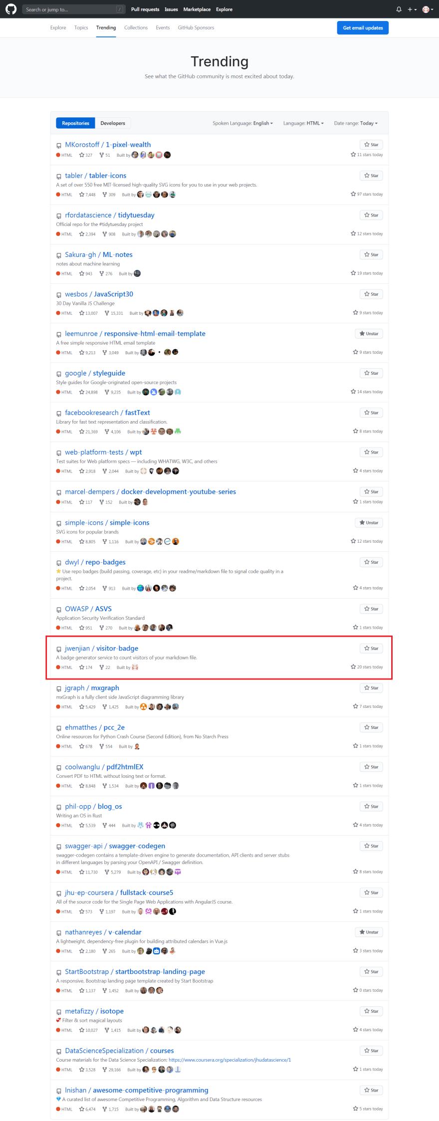 It's in GitHub Trending!