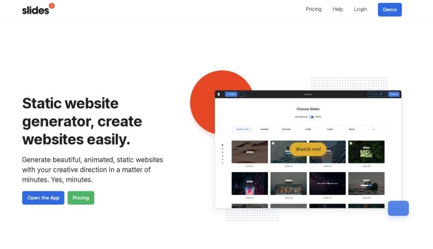 Slides - Website Generator