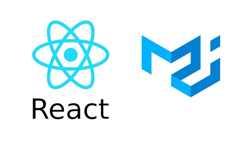 React and Material-UI logos