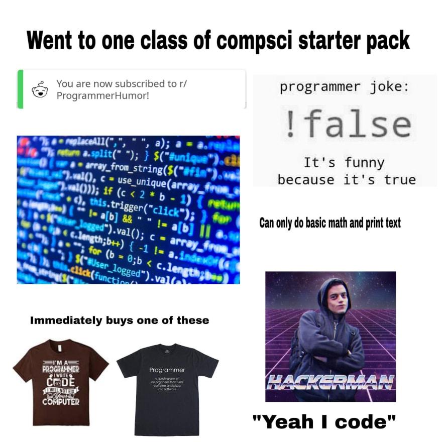 Esterotipos de programación be like