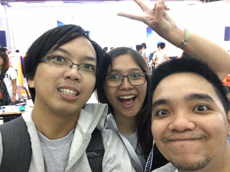 Team UHomies! From the left: Kent, Cleo, and me.<br>