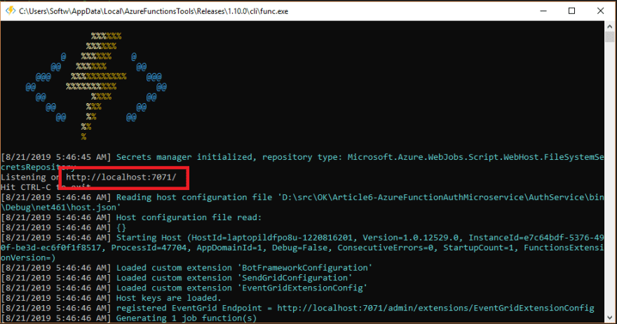 Run Azure Function Locally