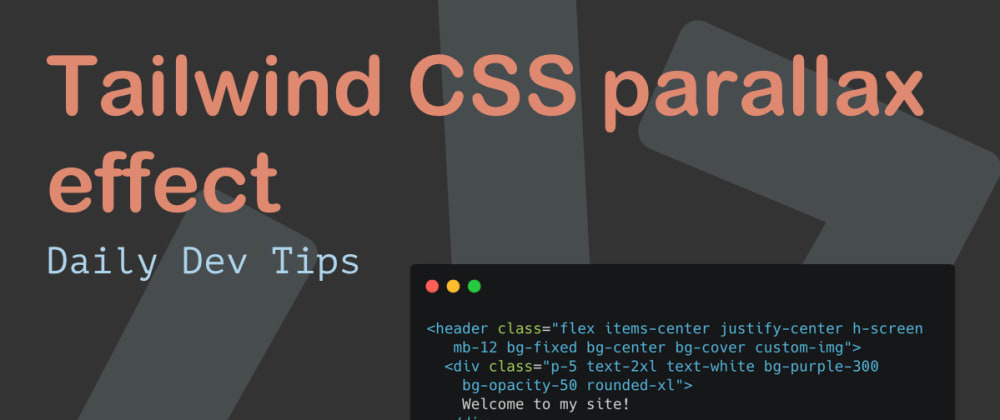 Cover Image for Tailwind CSS parallax effect