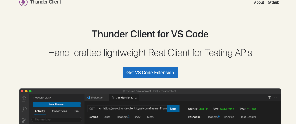 Cover image for Thunder Client - Http Client Extension for VS Code