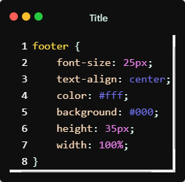 Footer basic styles