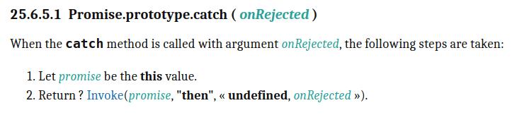 catch description in EcmaScript Standard