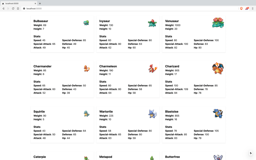 Our Next.js + SWR Pokedex Application