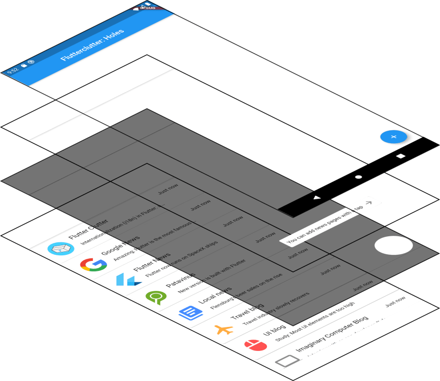 A perspective illustration of our widget stack