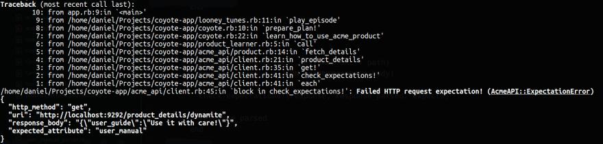 nice error description of the missing attribute