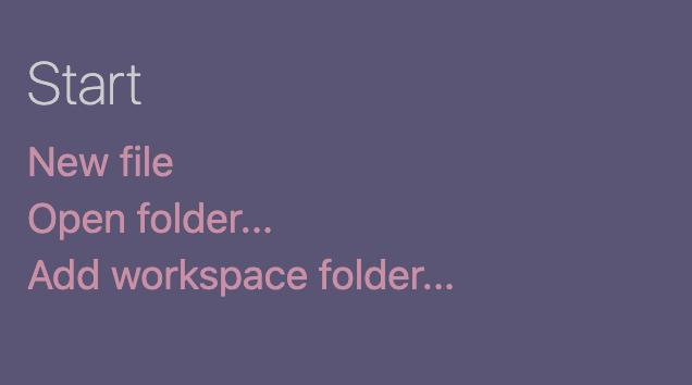 open folder under start
