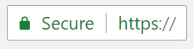 HTTPS browser badge