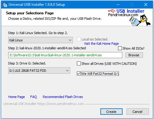 Alt Texthow to make bootable pendrive using universal usb installer