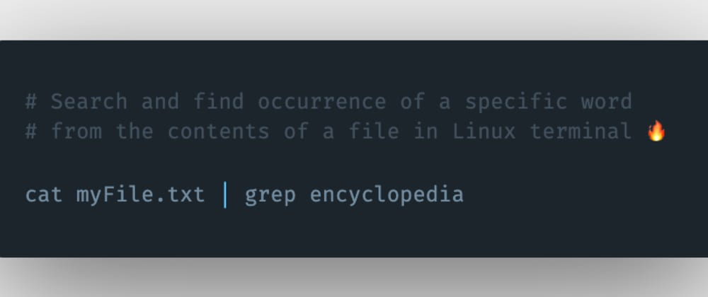Cover image for How to search and find a specific keyword or term from the contents of a file in the Linux terminal?