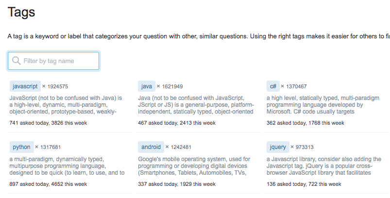 stackoverflow tags