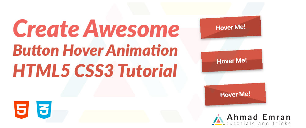 Cover image for Create Awesome Button Hover Animation - HTML5 CSS3 Tutorial