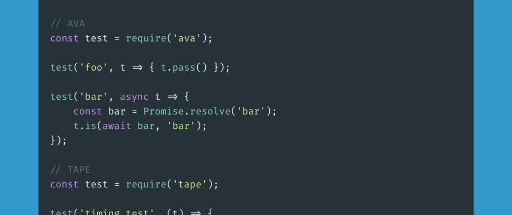 Cover image for Testing framework - Node.js