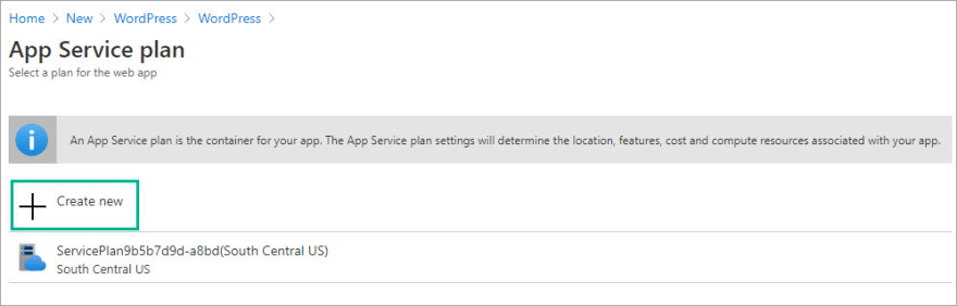 App Service plan