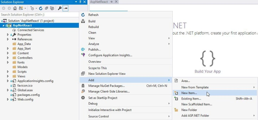 Setting up a React Environment for ASP NET MVC - DEV
