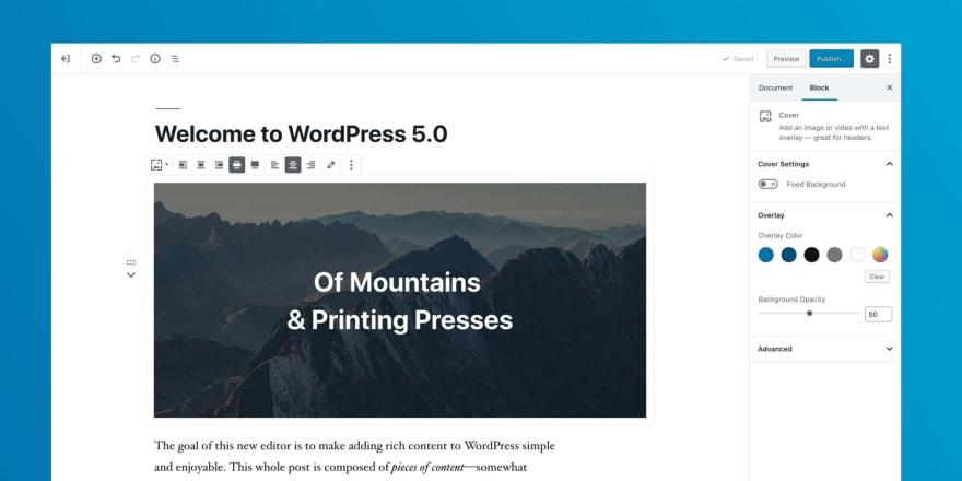 Wordpress Gutenberg Block Editor