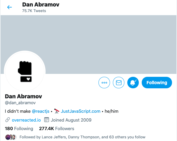 Dan Abramov Twitter