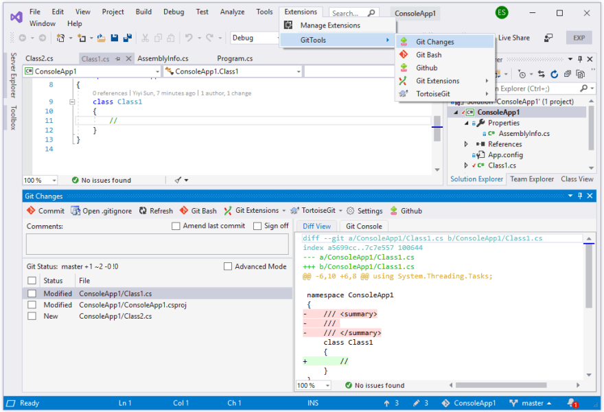 Commit to Git in Visual Studio 2019 - DEV Community 👩 💻👨 💻