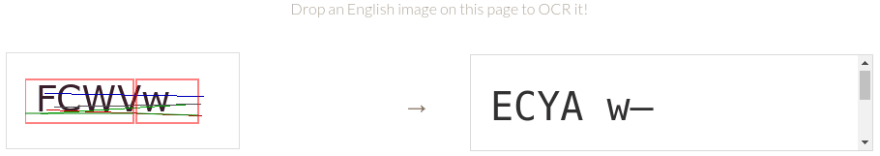 Tesseract.js reads our captcha incorrectly