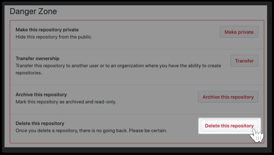 GitHub-Delete-Repository