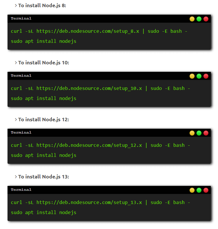 Node.js Installation