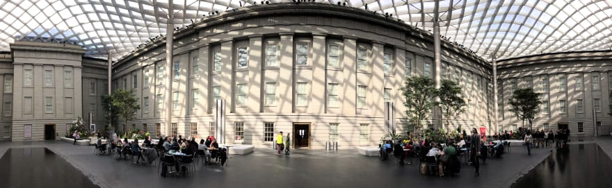 The atrium of the National Portrait Gallery