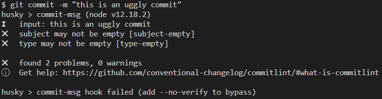 Check ugly commits