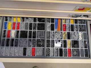 neatly laid out legos
