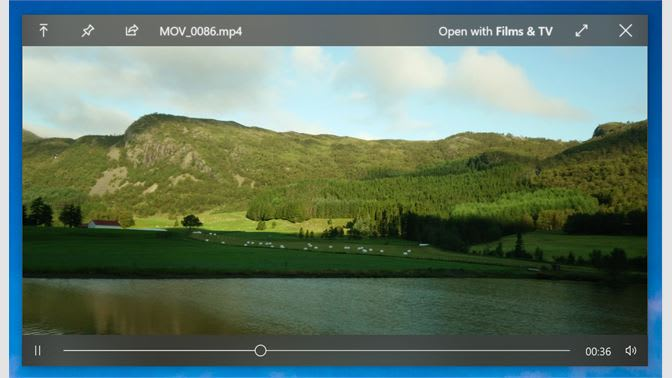 Quickly previewing a video file