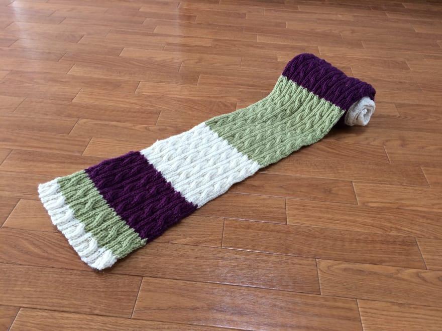 Muffler that I knitted
