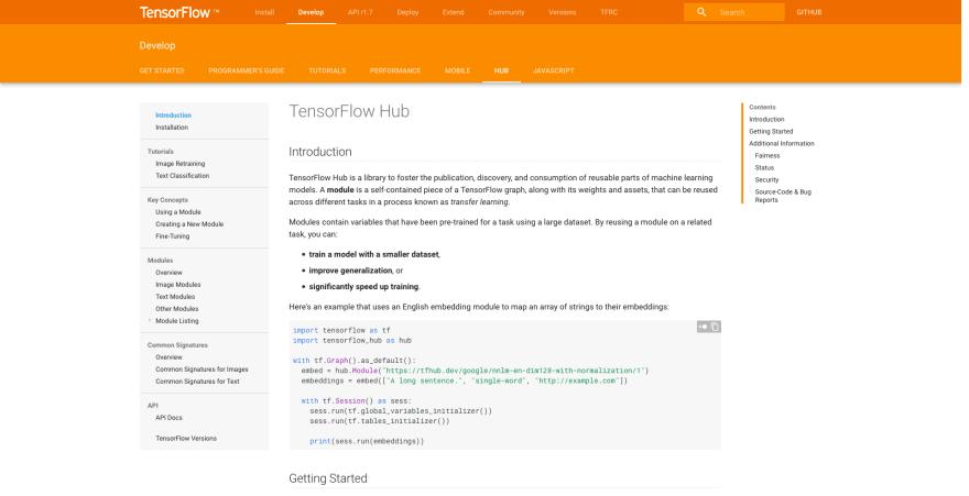 TensorFlow Hub