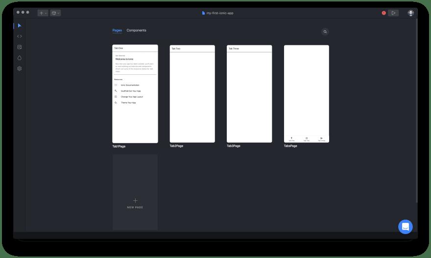 Ionic Studio Screenshot