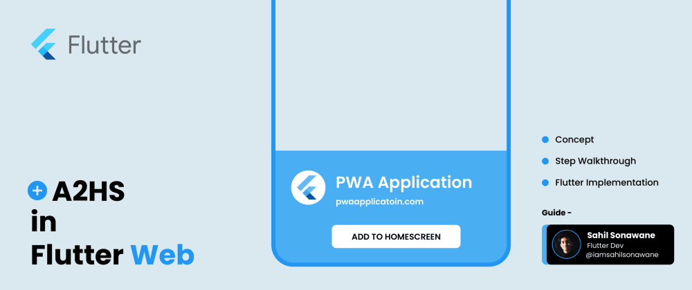 Cover image for A2HS in Flutter Web