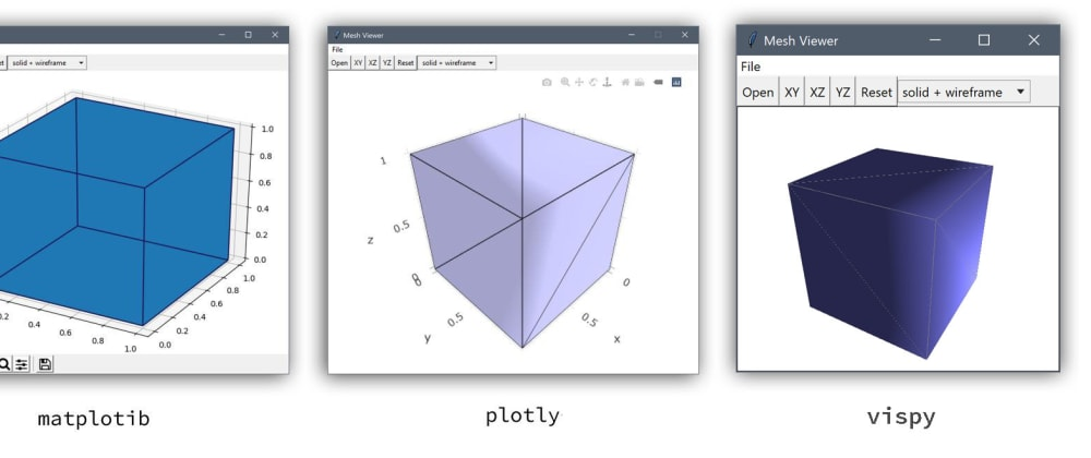 Cover image for CAD STL/OBJ mesh viewer with Python/tkinter GUI