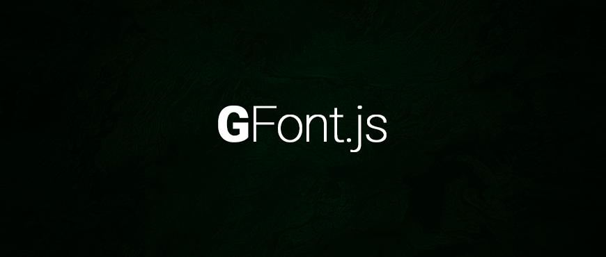 GFont.js