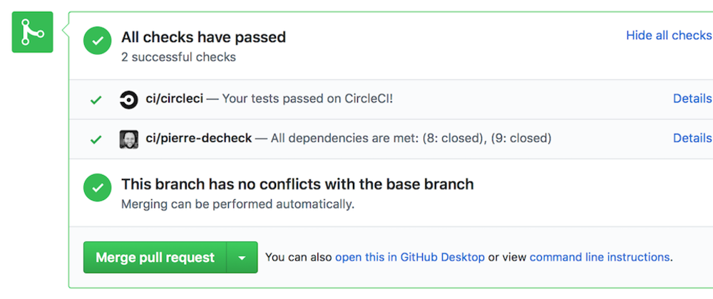 Cover image for Ever wished for a pull request dependency check? You've got it.