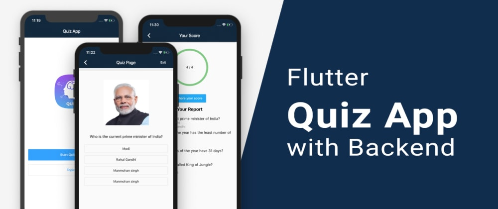 Cover image for Flutter Quiz App