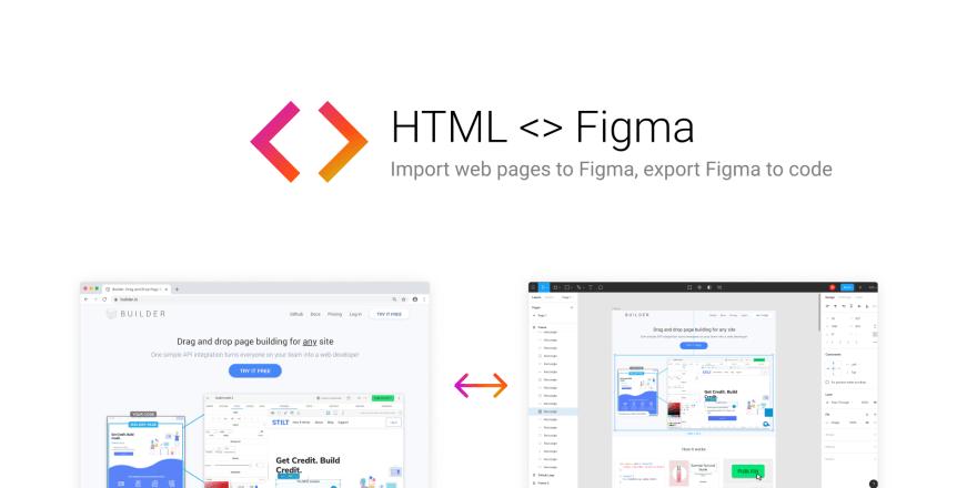 Screenshot of HTML to Figma
