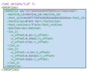 DataFile element selection